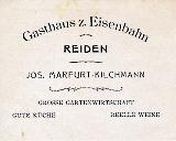 Gasthaus zur Eisenbahn 1918