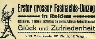 1923 Erster grosser Fastnacht-Umzug