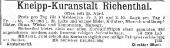 1900 Kneipp-Kuranstalt Richenthal