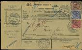 Paketkarte Mülhausen - Reiden 1897