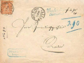Brief von Luzern nach Reiden 1875