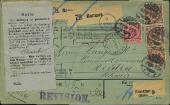 Paketkarte Barmen - Reiden 1896