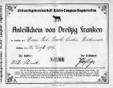 Anteilschein Broch Anton 1919