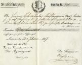 Quittung 1867